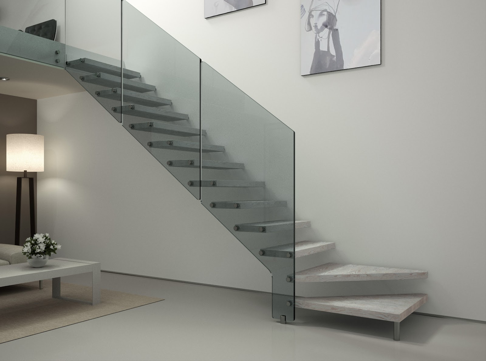 Barandillas y escaleras vidrosvazquez - Escaleras de cristal y madera ...