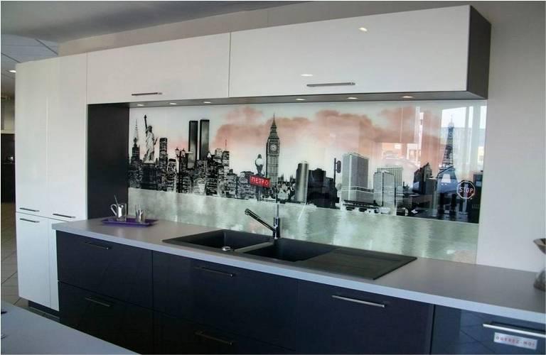 Frentes de vidrio para cocinas vidrosvazquez for Paneles acrilicos para frentes de cocina